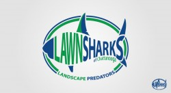 LawnSharks 250x136 Logo Design Gallery
